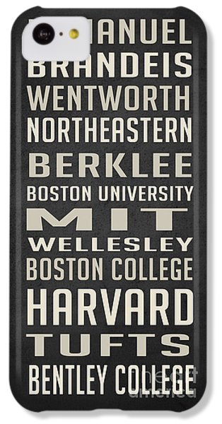Boston Colleges Poster IPhone 5c Case by Edward Fielding