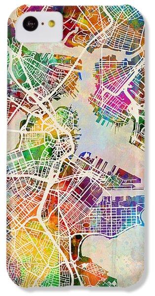 Boston Massachusetts Street Map IPhone 5c Case by Michael Tompsett