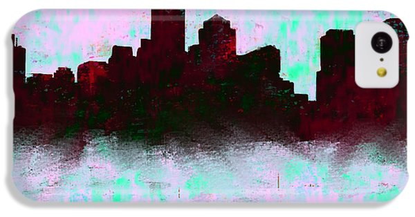 Boston Skyline Sky Blue  IPhone 5c Case