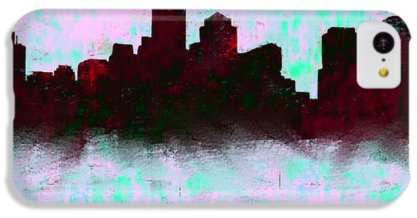 Boston Skyline Sky Blue  IPhone 5c Case by Enki Art