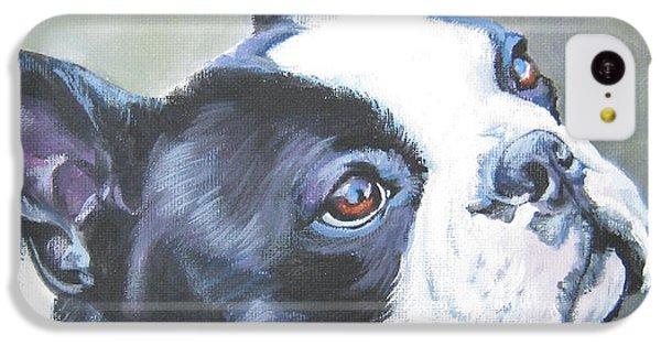 boston Terrier butterfly IPhone 5c Case by Lee Ann Shepard