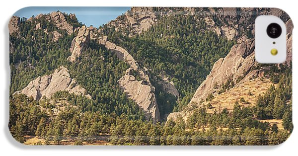 IPhone 5c Case featuring the photograph Boulder Colorado Rocky Mountain Foothills by James BO Insogna