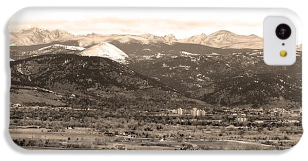 Boulder Colorado Sepia Panorama Poster Print IPhone 5c Case by James BO  Insogna
