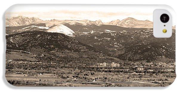 Boulder Colorado Sepia Panorama Poster Print IPhone 5c Case