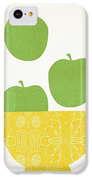 Fruit Bowl iPhone 5c Case - Bowl Of Green Apples- Art By Linda Woods by Linda Woods