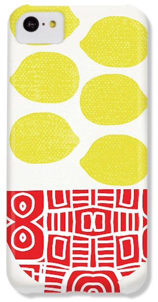 Fruit Bowl iPhone 5c Case - Bowl Of Lemons- Art By Linda Woods by Linda Woods
