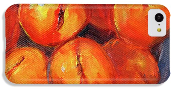 IPhone 5c Case featuring the painting Bowl Of Peaches Still Life by Nancy Merkle