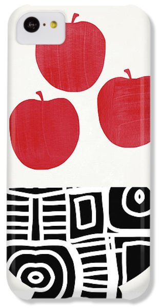 Fruit Bowl iPhone 5c Case - Bowl Of Red Apples- Art By Linda Woods by Linda Woods
