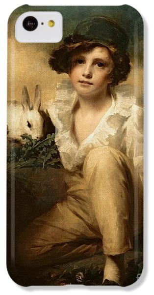 Boy And Rabbit IPhone 5c Case by Sir Henry Raeburn