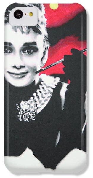 Audrey Hepburn iPhone 5c Case - Breakfast At Tiffany's by Hood alias Ludzska