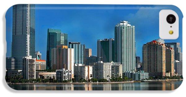 Miami iPhone 5c Case - Brickell Skyline 2 by Bibi Rojas