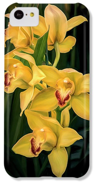 Orchid iPhone 5c Case - Bright Yellow Orchids by Tom Mc Nemar