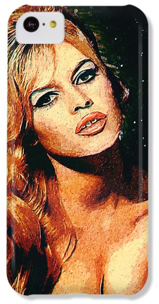 Brigitte Bardot IPhone 5c Case by Taylan Apukovska