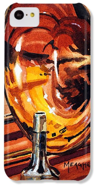Trombone iPhone 5c Case - Brilliant Brass by Spencer Meagher