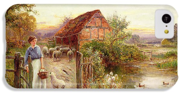 Bringing Home The Sheep IPhone 5c Case by Ernest Walbourn