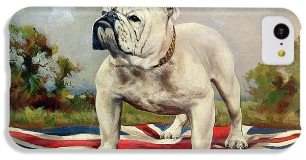 Dog iPhone 5c Case - British Bulldog by English School