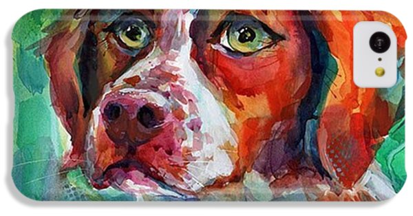 Brittany Spaniel Watercolor Portrait By IPhone 5c Case