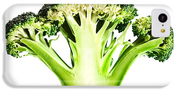 Broccoli Cutaway On White IPhone 5c Case by Johan Swanepoel
