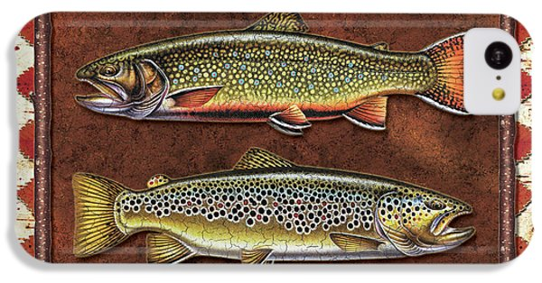 Trout iPhone 5c Case - Brook And Brown Trout Lodge by JQ Licensing