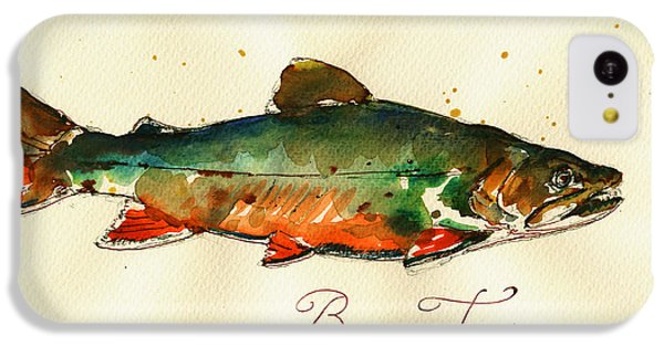 Trout iPhone 5c Case - Brook Trout Art by Juan  Bosco