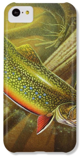 Trout iPhone 5c Case - Brook Trout Cover by JQ Licensing