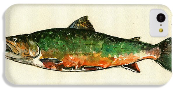 Trout iPhone 5c Case - Brook Trout by Juan  Bosco