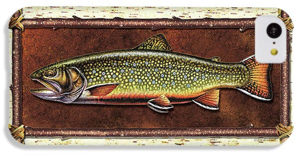 Trout iPhone 5c Case - Brook Trout Lodge by JQ Licensing