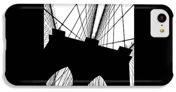 Brooklyn Bridge iPhone 5c Case - Brooklyn Bridge Architectural View by Az Jackson