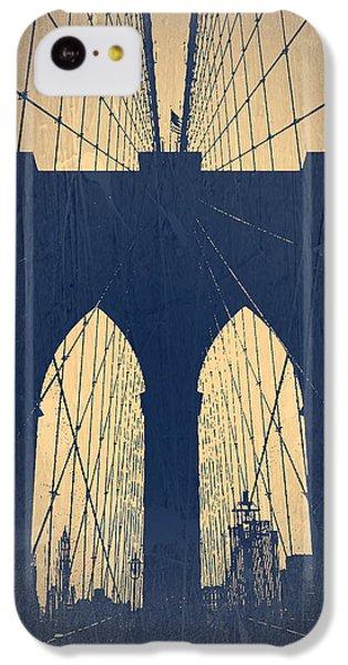 Brooklyn Bridge iPhone 5c Case - Brooklyn Bridge Blue by Naxart Studio