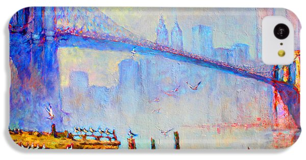Brooklyn Bridge In A Foggy Morning IPhone 5c Case