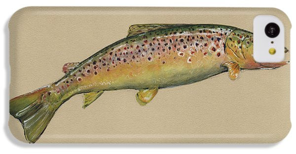 Brown Trout Jumping IPhone 5c Case by Juan Bosco