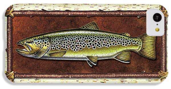 Trout iPhone 5c Case - Brown Trout Lodge by JQ Licensing