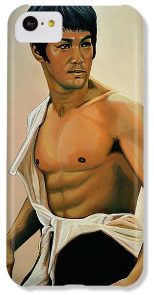 Bruce Lee Painting IPhone 5c Case by Paul Meijering