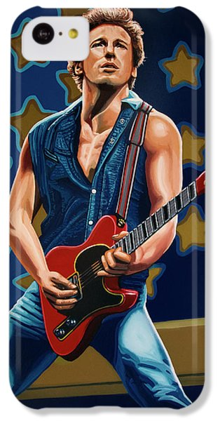 Bruce Springsteen The Boss Painting IPhone 5c Case by Paul Meijering