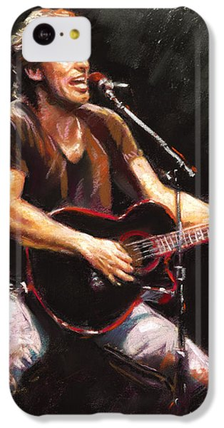 Musicians iPhone 5c Case - Bruce Springsteen  by Ylli Haruni