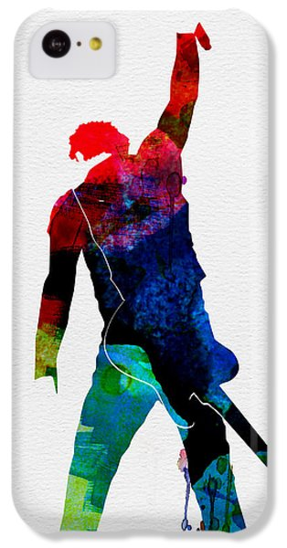 Musicians iPhone 5c Case - Bruce Watercolor by Naxart Studio