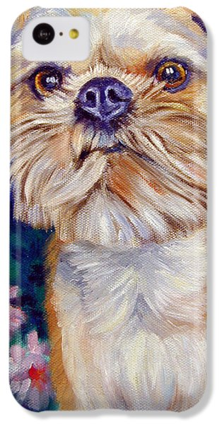 Griffon iPhone 5c Case - Brussels Griffon by Lyn Cook