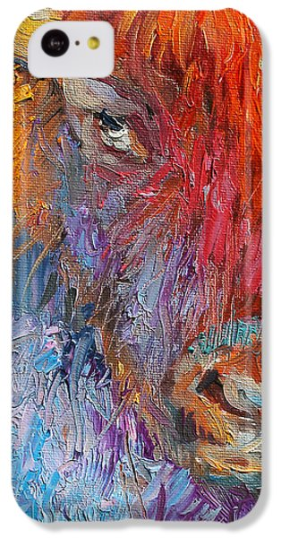 Buffalo Bison Wild Life Oil Painting Print IPhone 5c Case by Svetlana Novikova