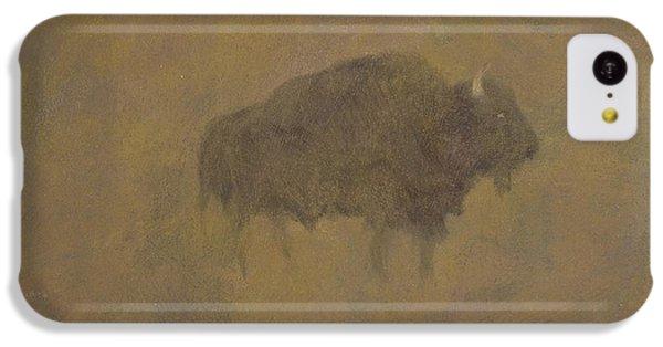 Buffalo In A Sandstorm IPhone 5c Case by Albert Bierstadt