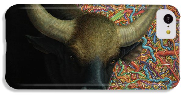 Bull iPhone 5c Case - Bull In A Plastic Shop by James W Johnson