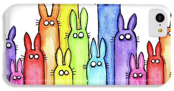 Bunny Rainbow Pattern IPhone 5c Case