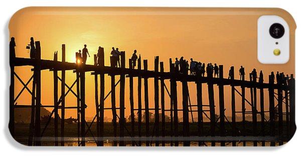 Burmese Python iPhone 5c Case - Burmese Sunset by Delphimages Photo Creations