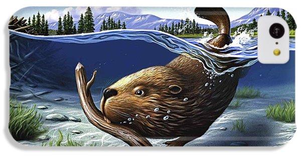Beaver iPhone 5c Case - Busy Beaver by Jerry LoFaro