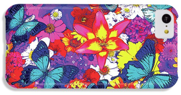Fairy iPhone 5c Case - Butterflies And Flowers by JQ Licensing