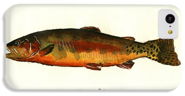 Trout iPhone 5c Case - California Golden Trout Fish by Juan  Bosco