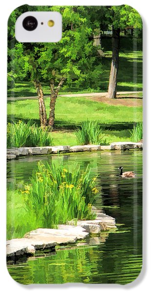 IPhone 5c Case featuring the painting Calm Lake Ellyn by Christopher Arndt