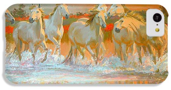 Horse iPhone 5c Case - Camargue  by William Ireland