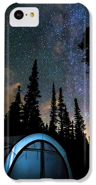 IPhone 5c Case featuring the photograph Camping Star Light Star Bright by James BO Insogna