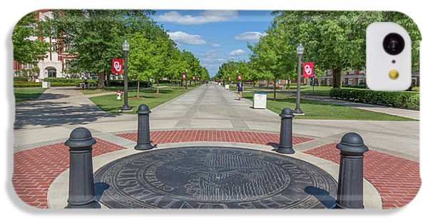 Oklahoma University iPhone 5c Case - Campus Seal On The Campus Of The University Of Oklahoma by Ken Wolter
