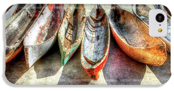 Boat iPhone 5c Case - Canoes by Debra and Dave Vanderlaan